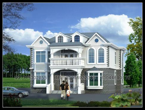 两层半乡村别墅设计图 搜房网装