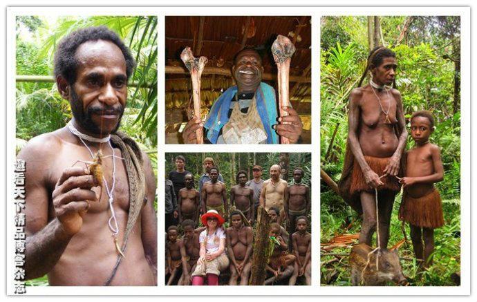 探秘新几内亚岛食人族:女人地位不如猪图