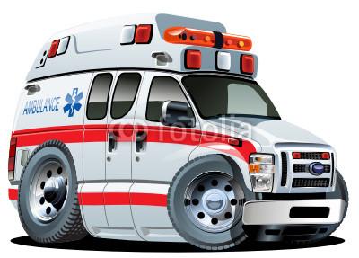 救护车图片卡通