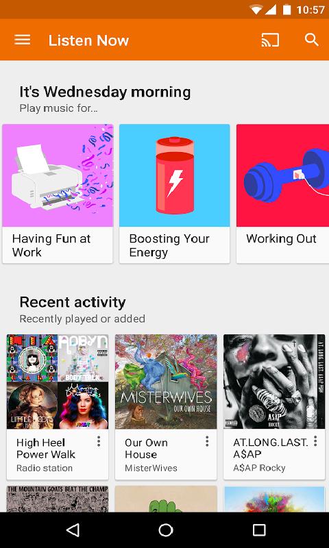 Google Play 音乐-应用截图