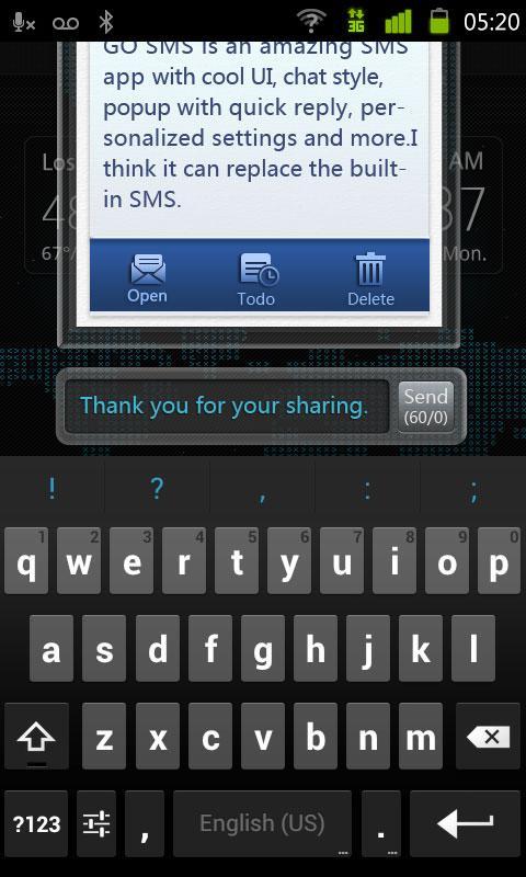 GO SMS Pro IDCard Popup Theme-应用截图