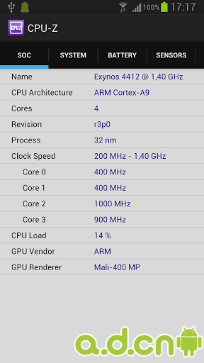 CPU-Z APK / APP Download 1.15,CPU-Z Android APP ...