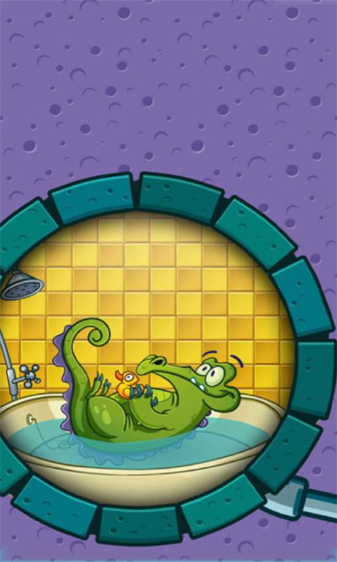 玩免費模擬APP|下載鳄鱼小玩皮爱洗澡2-3D桌面壁纸 app不用錢|硬是要APP