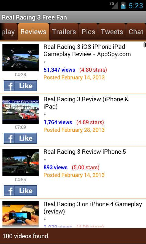 Real Racing 3 Free Fan