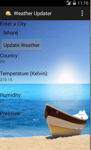 天气更新-应用截图