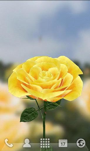 3D玫瑰花动态壁纸-应用截图