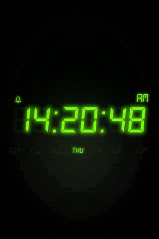 动态夜光时钟手机壁纸 动态夜光时钟壁纸 手机模拟时钟动态壁纸