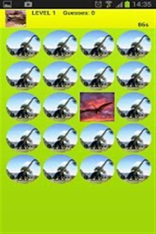 恐龙匹配游戏