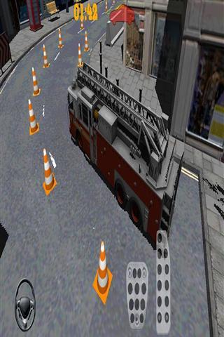 消防卡车停车场3D 賽車遊戲 App-癮科技App