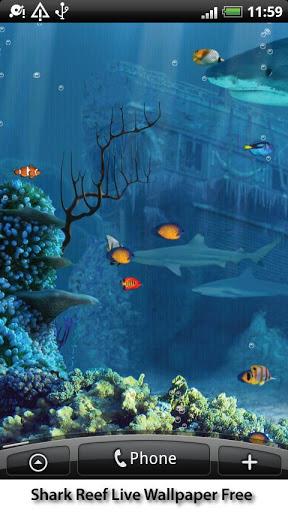 【免費個人化App】动态鲨鱼礁墙纸-APP點子