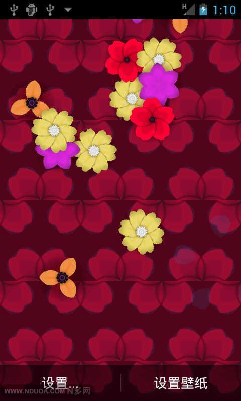 飘落的花瓣动态壁纸
