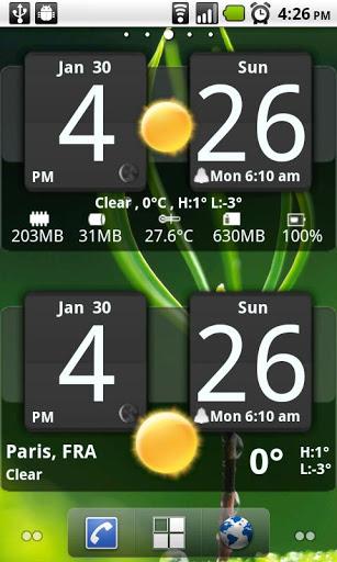天气时钟部件
